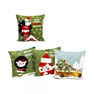 Christmas wool embroidered cushion and pillow are suitable for living room, bedroom/cushion series/Embroidery Pillow-7657