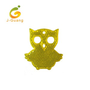 JG-K-05 CE High Quality Promotion PMMA Owl Shape Reflective Keychain