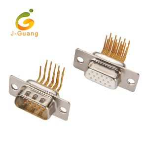 JG138-B Machine Pin Right Angle Gold Plating DR9 Connector