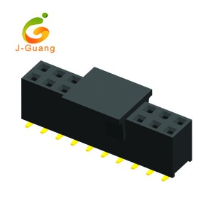Best quality Round Connectors - JG123-K 2.54mm 2 Rows Smt Type H=7.1mm Female Header  – J-Guang