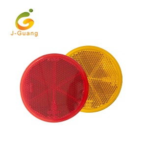 High visibility Red color Dia 80mm PMMA round shape plastic reflective truck reflector