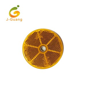 JG-J-01 Customized Red Yellow Round Shape Motorcycle Reflectors