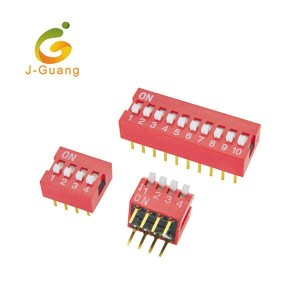 JG140 Red Color Piano Type Regular Type Dip Switches