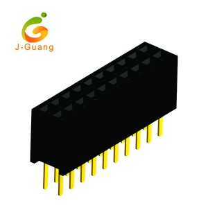 Professional China Electrical Terminal Block - female header, JG165-C, 1.27mm without polarizing dip solder female connector pins  – J-Guang