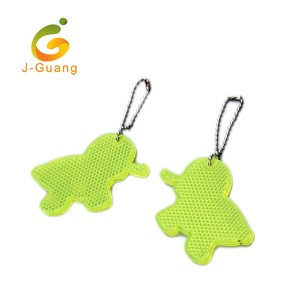 JG-K-02 EN13356 certificated Hard PMMA Reflective Keychain