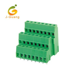 Hot New Products Electric Terminal Blocks - 128A3-5.0 5.08 Three Row Green Terminal Block – J-Guang