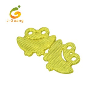 JG-K-03 Customized Wholesale High Visible Cheap Frog Shape Reflective Hangers