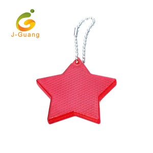 JG-K-01 Promotional Ideal Gift Hard Star Shape Reflective Hanger
