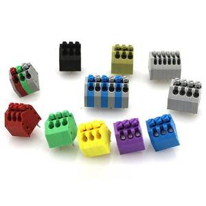 Best Sell 2.5mm 3.5mm Pitch Spring Terminal Block JG250-2.5 3.5