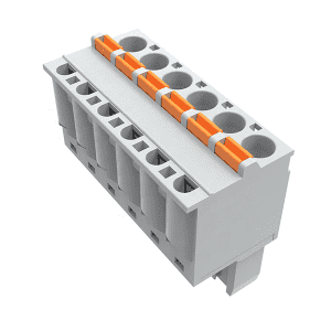 China Factory Customized Barrier Strip Barrier Busbar Strip Din Rail Terminal Block