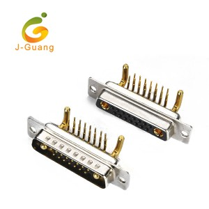 Good quality Electronic Connectors - JG134-E Machine Pin  R/A Type (15+2) 17w2 D-sub – J-Guang