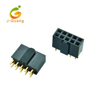 JG123-R 2.54mm V/T Type Female Connector with Polarization H=8.5mm