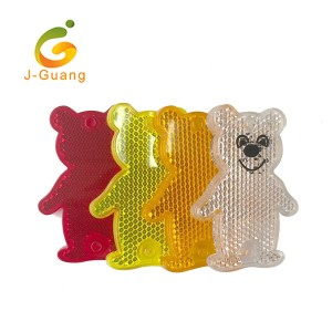 JG-K-06 Bear Shape Hard Plastic Safety Reflective Keyrings