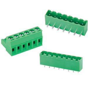3.5 3.81 5.0 5.08 mm pitch high quality Equivalent green contact pluggable terminal block