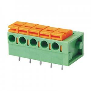 90 Degree JG141R-2.54 PCB Spring Screwless Terminal Block