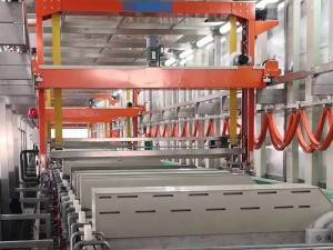 Aluminum oxidation automatic production line