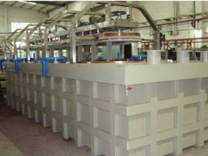 Single part electroplating produksje line