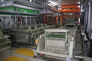 Automatic gantry barrel plating production line