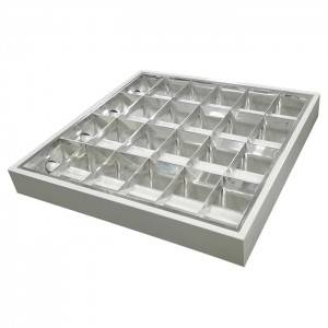 Office Building Led Grille Lamp Surface Louver Fitting