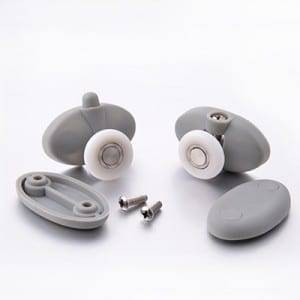 Chinese Professional Bathroom Accessories 304 Stainless Steel Glass Hanging Shower Door Rollers