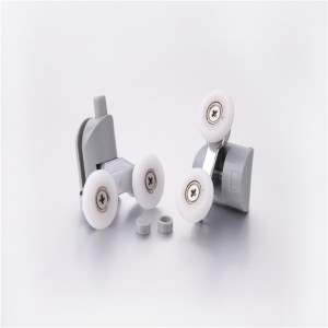 "HS-058 Well- shaped ""Big mouth"" twin shower door rollers ,ball bearing wheels"