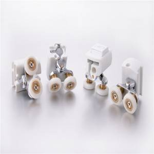 HS-075 Useful corner double shower roller for sliding doors