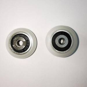 Shower door bearing wheel roller with 8-32 UNC thread
