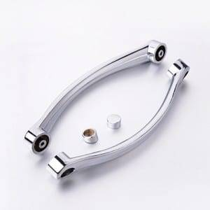 HS-045 Simple clean design chrome finish plastic shower door handle