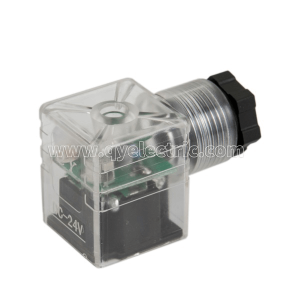 DIN 43650A  Solenoid valve connector Two color LED