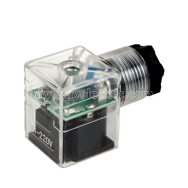 DIN 43650A  Solenoid valve connector half-wavw rectifier output about 50%input +diode protection+LED +VDR Featured Image