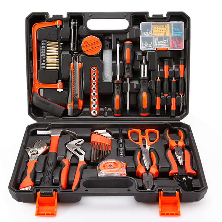 Factory direct sale 102 pcs Woodworking electrician manual hardware toolbox set