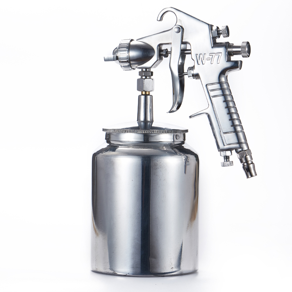 High Pressure Paint Cup 1000cc Spray Gun Professional W-77S