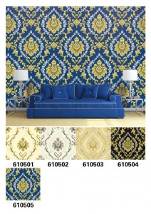2020 New design damask decorative vinyl wallpaper