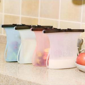 Silicone Refrigerator Fresh Reusable Sandwich Vacuum Food Storage Bag