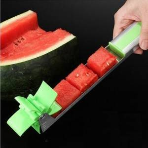 Household Stainless Steel Fruit Tongs Corer Tools Windmill Watermelon Slicer Cutter