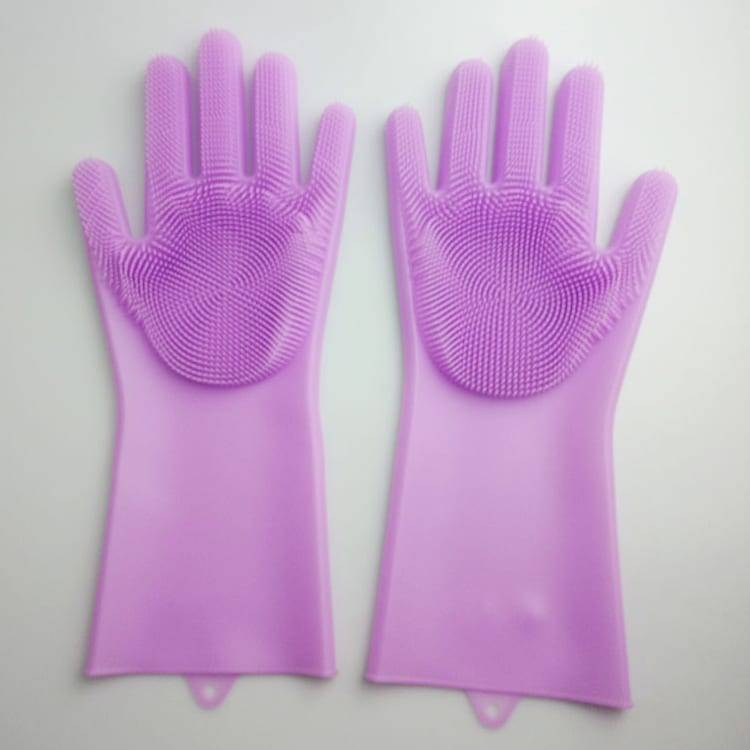 Dishwashing rubber Silicone Cleaning Brush Scrubber Gloves Silicone Cleaning Brush Scrubber Gloves