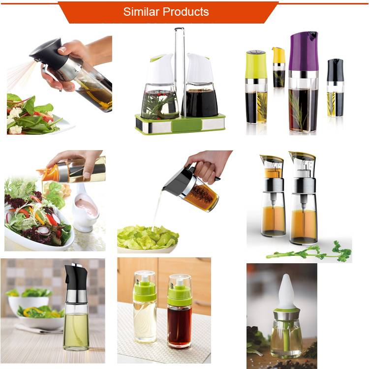 Glass Oil and Vinegar Bottle Dispenser For Cooking