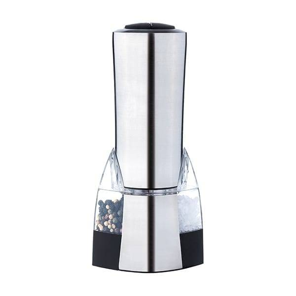 electric stainless steel salt and pepper mill with light