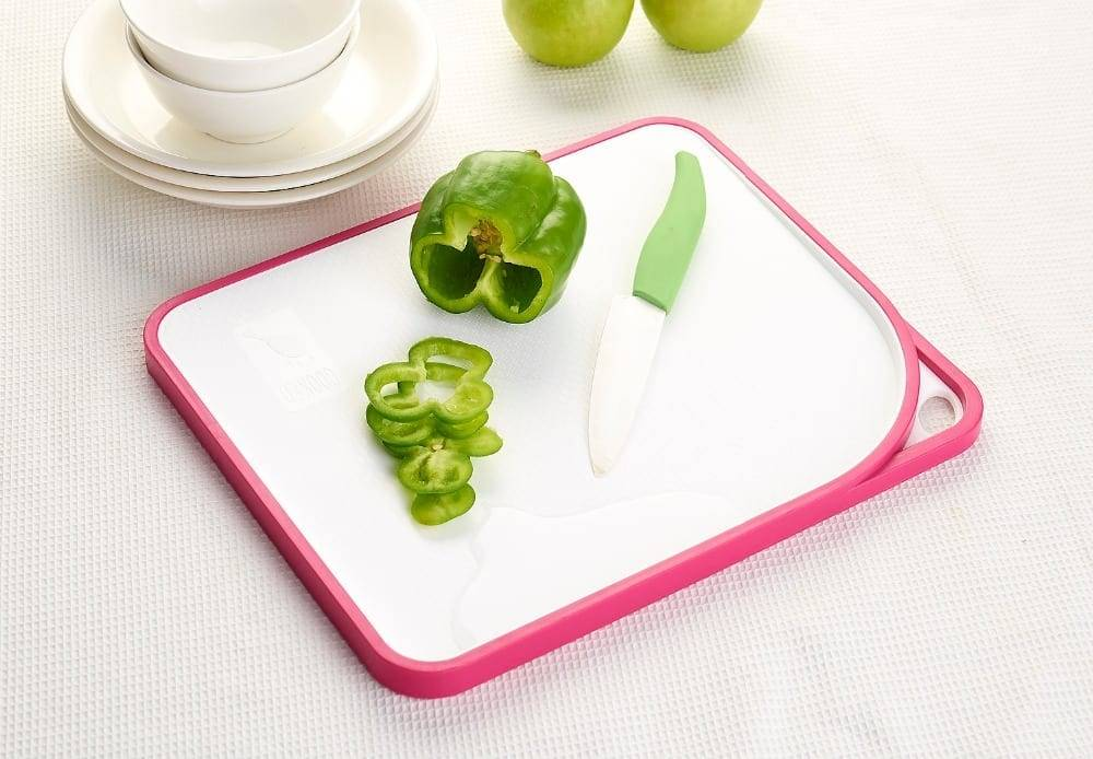 Plastic New Material New Design Coloful Classification Cutting Board Set Double Thickness Chopping Board