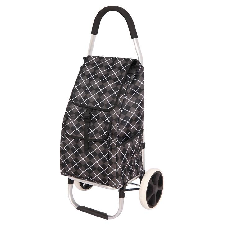 Trolley Dolly, Pink  Plaid Shopping Grocery Foldable Cart