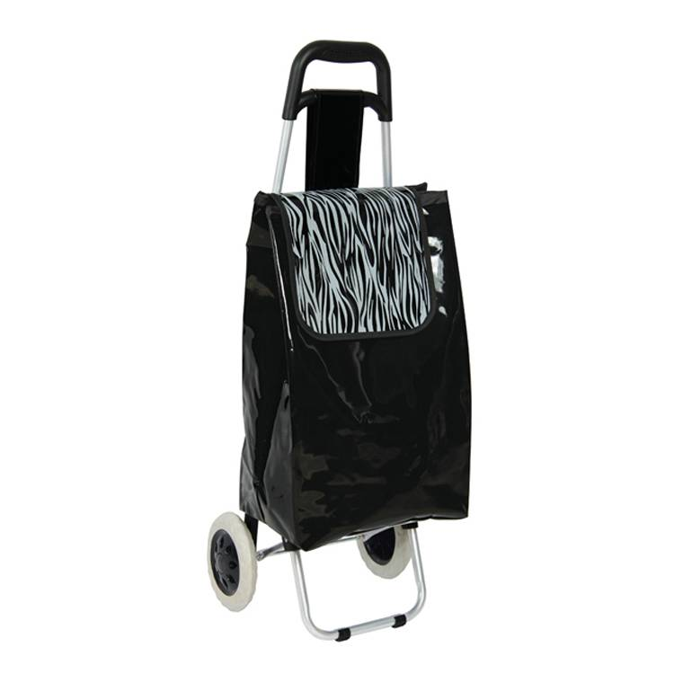 Foldable 2 Wheel Multifunctional Shopping Trolley, colorful