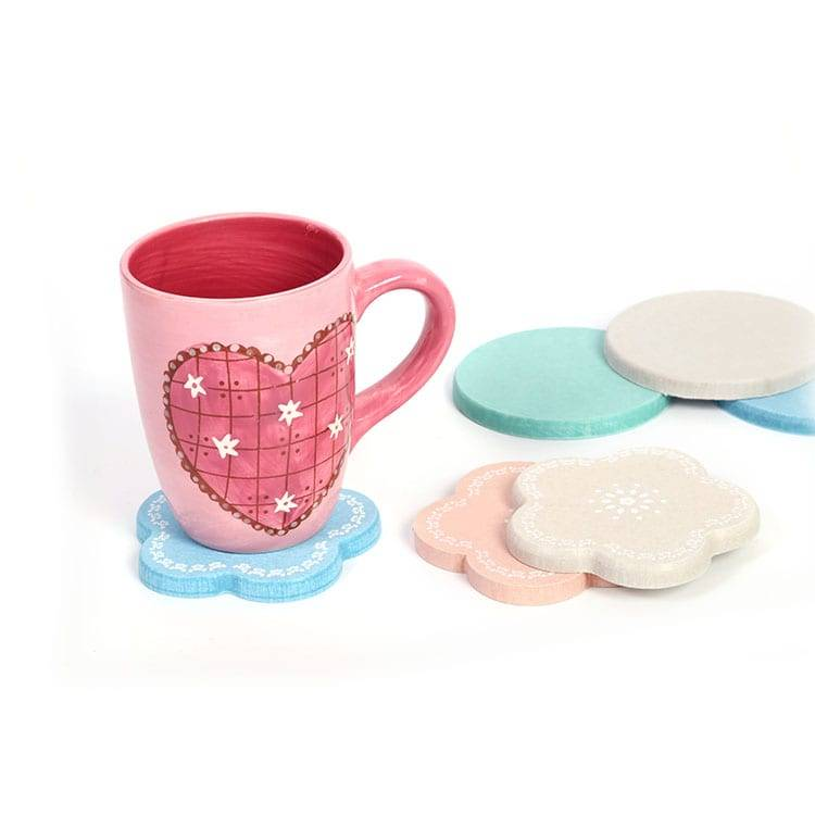 Hot sale Factory Customized Design Diatomite Cup Mat Coasters For Drink