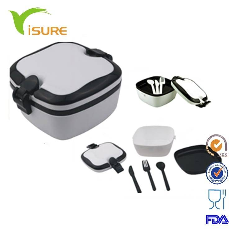 3-layer Lunch Container box with fork and knife