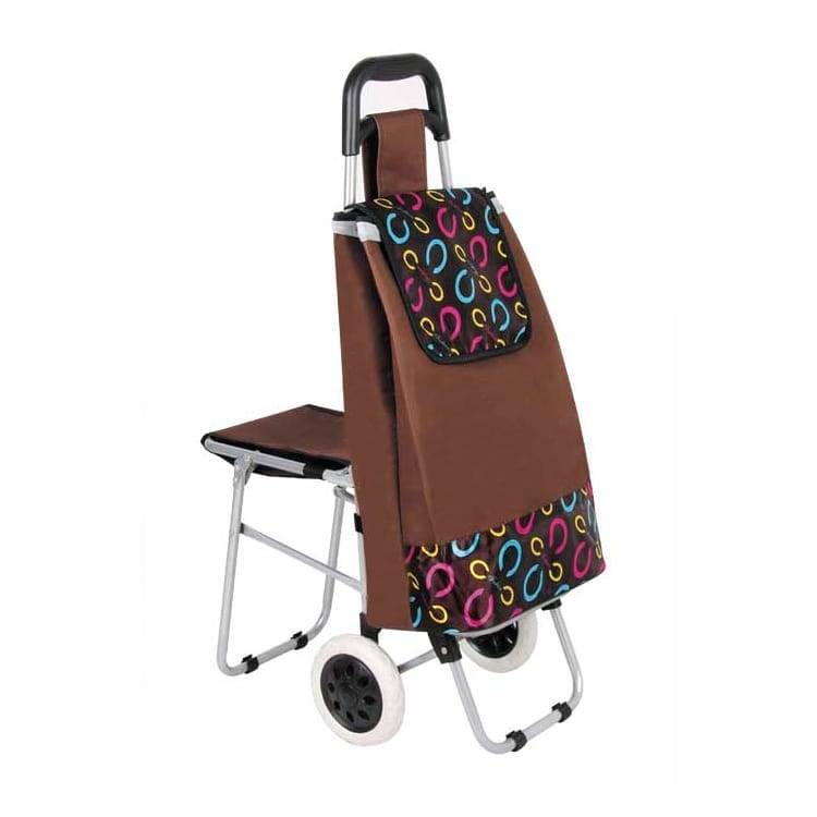 Seat Cart Travel Bag Three in One Multi Function Travel Trolley Shopping Travel Essential Artifact Featured Image