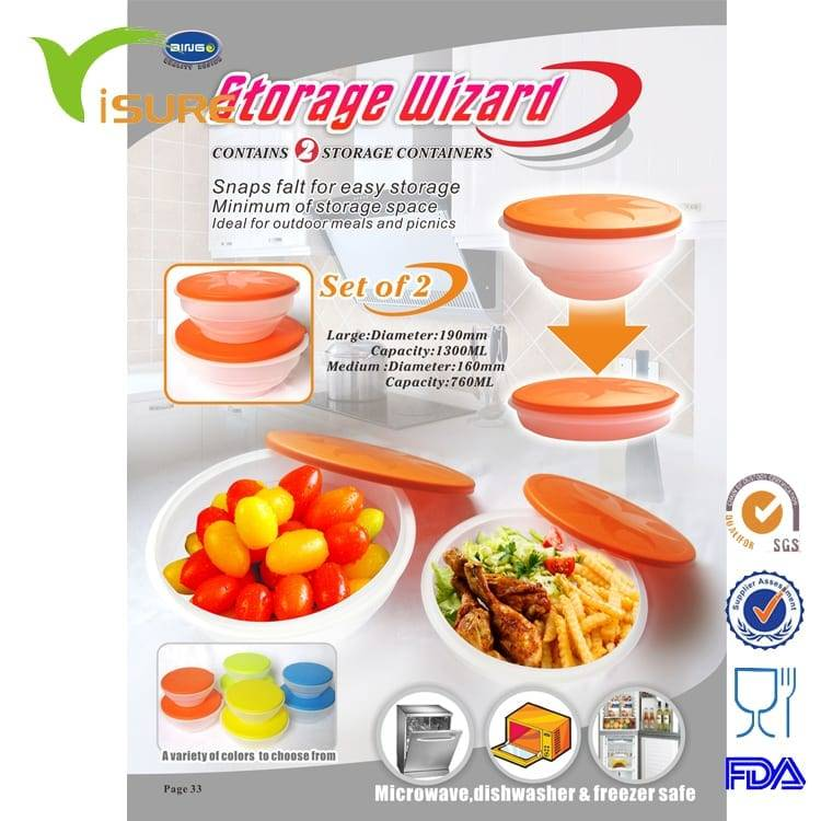 Plastic Storage Wizard Folding Bowl Featured Image