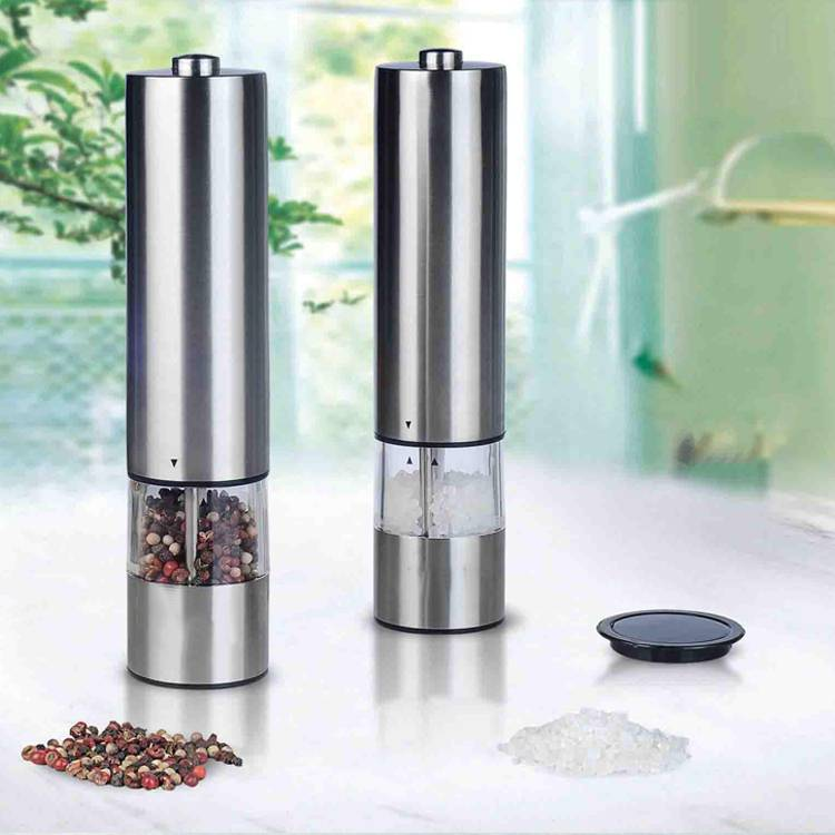 Battery Powered One Touch Function Stainless Steel Electric Salt Pepper Grinder