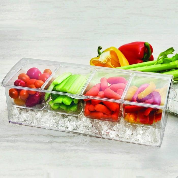 Condiments On Ice Tray 6978 Chilled condiment