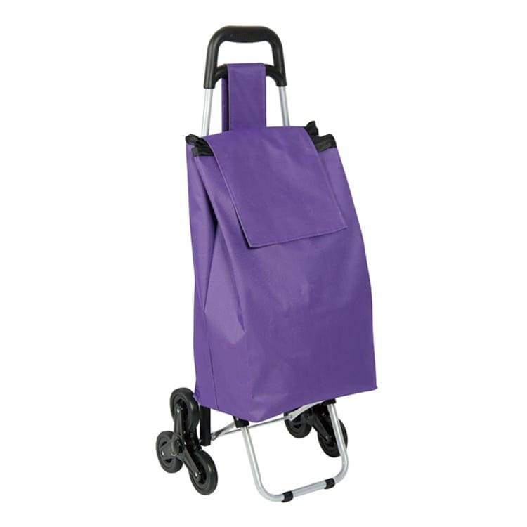Multifunctional foldable shopping trolley with shopping bag