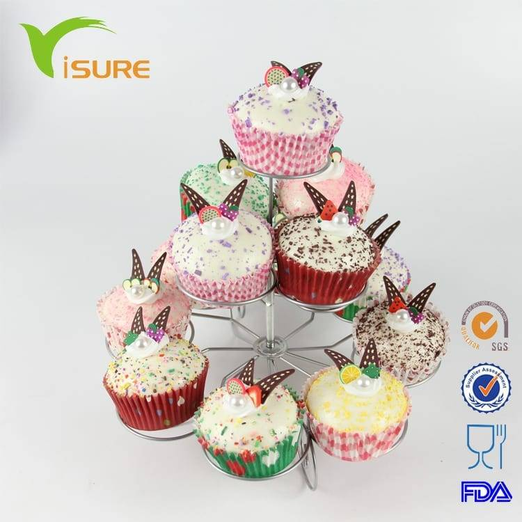 3 tier Iron Steel Cupcake Stand