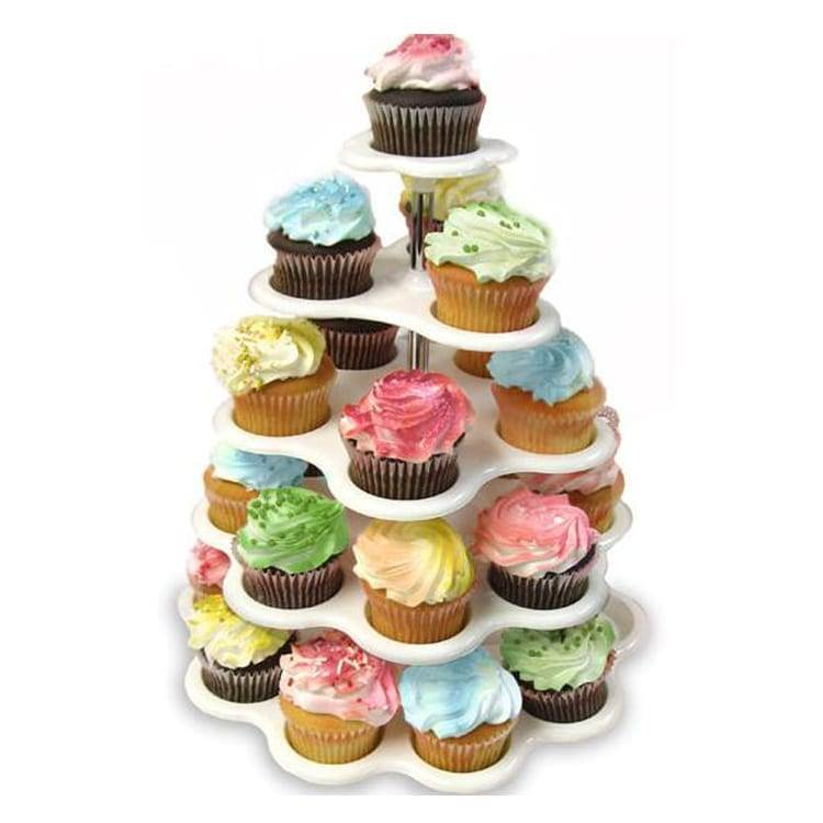 clear 5 tiers acrylic square cupcake stands 5 Tier Cupcake Stand Featured Image